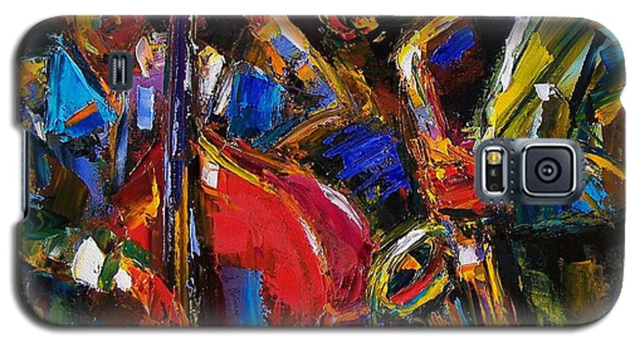Jazz Galaxy S5 Case featuring the painting Jazz by Debra Hurd
