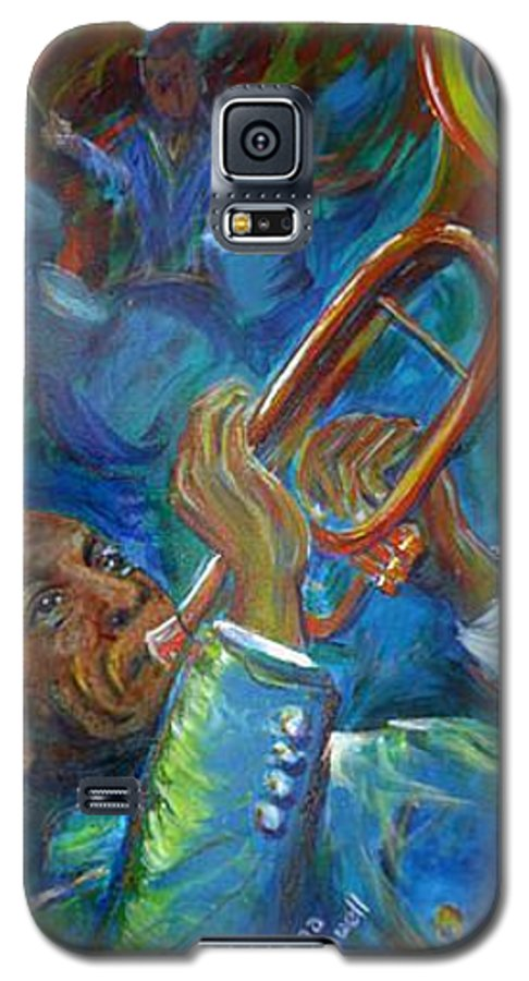 Jazz Galaxy S5 Case featuring the painting Jazz Man by Regina Walsh