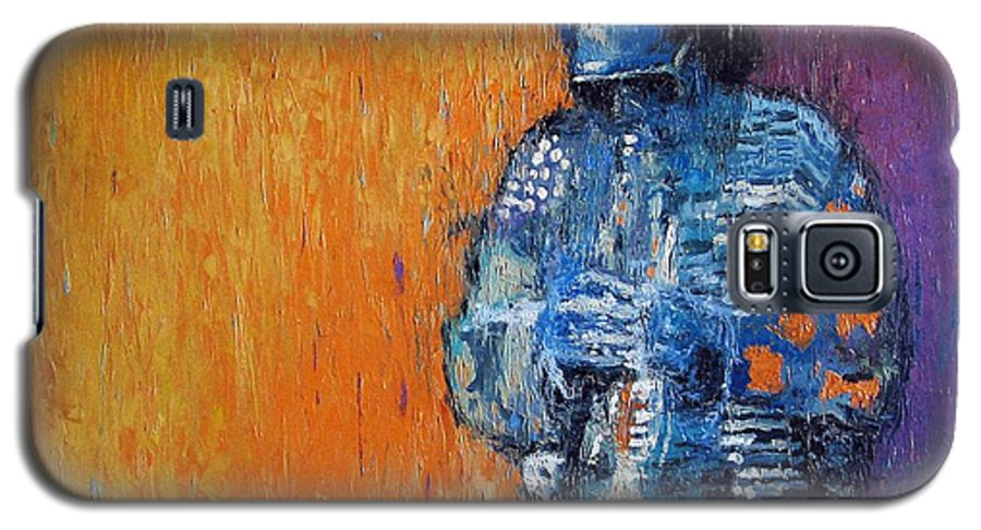 Jazz Galaxy S5 Case featuring the painting Jazz Miles Davis 2 by Yuriy Shevchuk
