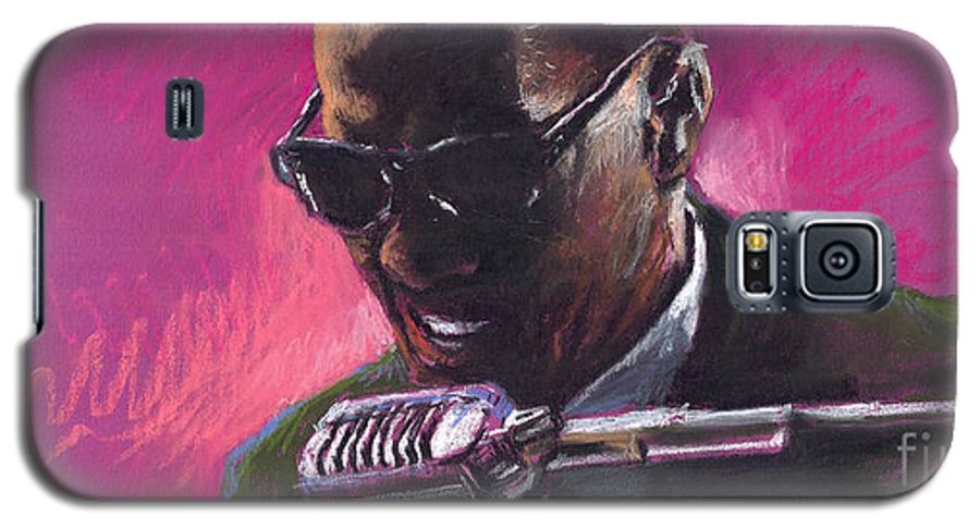 Jazz Galaxy S5 Case featuring the painting Jazz. Ray Charles.1. by Yuriy Shevchuk