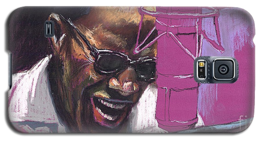 Jazz Galaxy S5 Case featuring the painting Jazz Ray by Yuriy Shevchuk