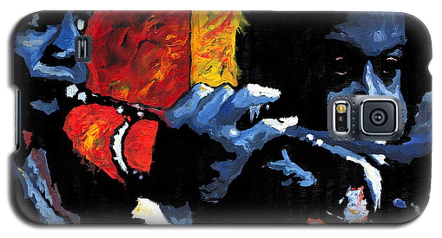 Jazz Galaxy S5 Case featuring the painting Jazz Trumpeters by Yuriy Shevchuk