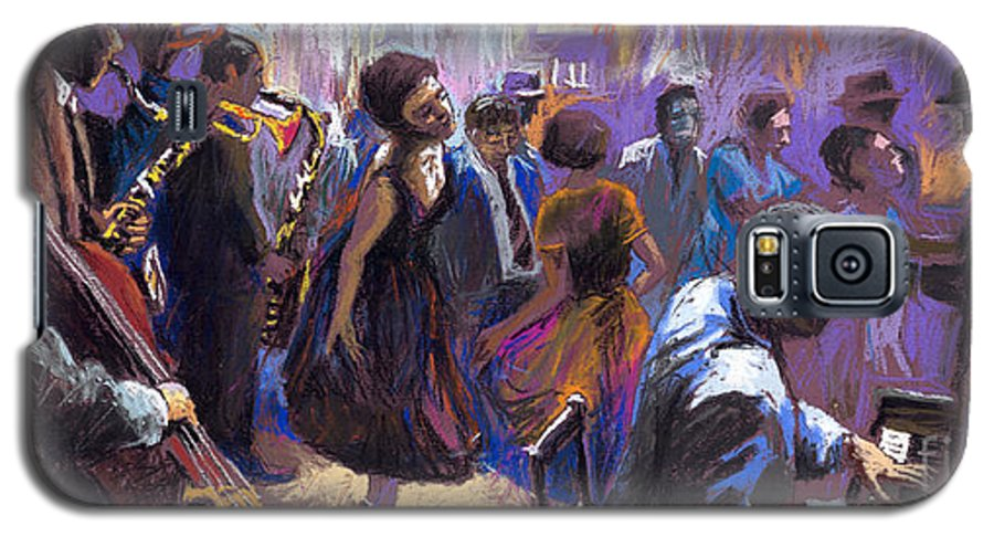 Jazz.pastel Galaxy S5 Case featuring the painting Jazz by Yuriy Shevchuk