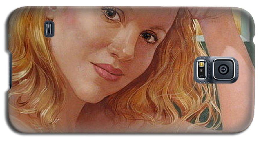Portrait Galaxy S5 Case featuring the painting Jenn Cornelius by Jerrold Carton
