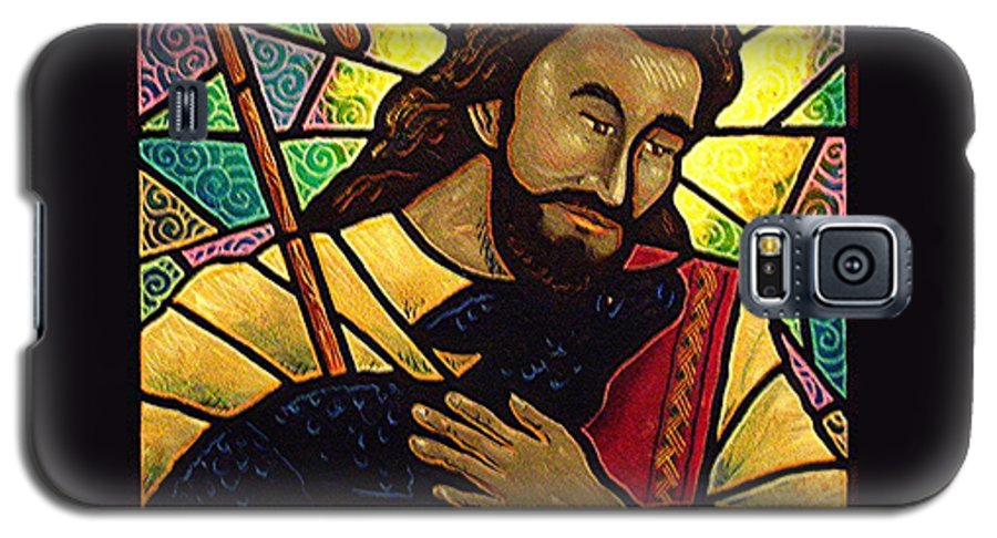 Jesus Galaxy S5 Case featuring the painting Jesus The Good Shepherd by Jim Harris
