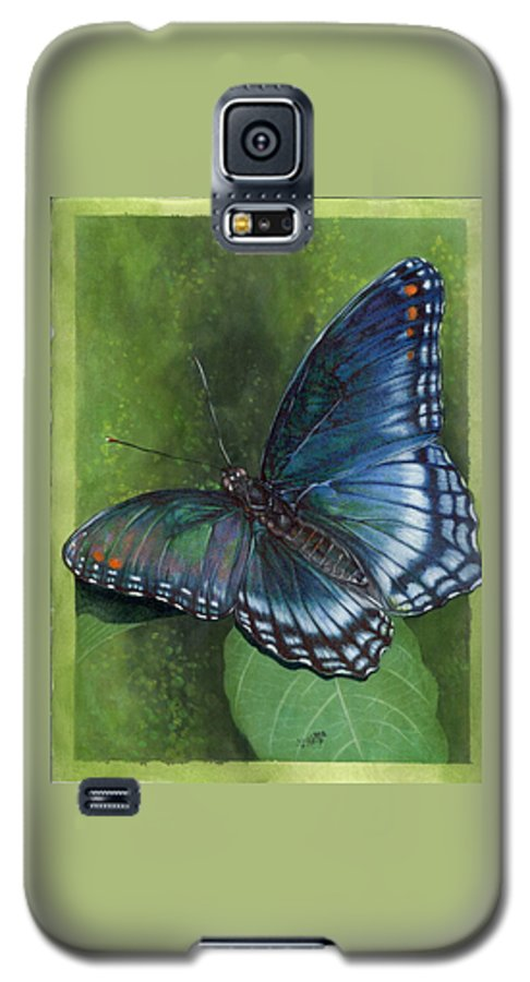 Insects Galaxy S5 Case featuring the mixed media Jewel Tones by Barbara Keith
