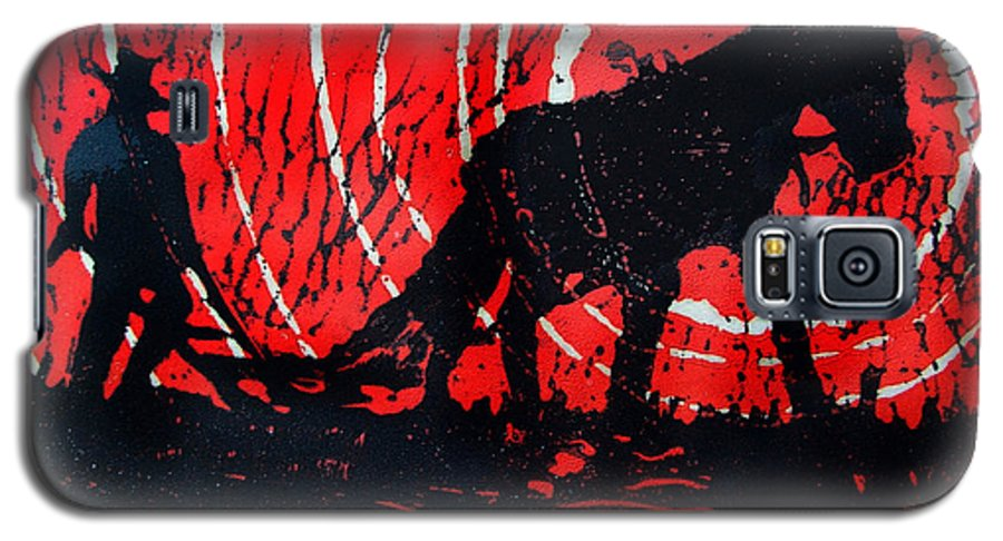 Jezebel And Me Galaxy S5 Case featuring the relief Jezebel And Me by Seth Weaver