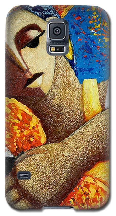Puerto Rico Galaxy S5 Case featuring the painting Jibara Y Sol by Oscar Ortiz
