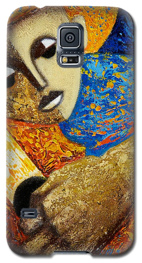 Color Galaxy S5 Case featuring the painting Jibaro Y Sol by Oscar Ortiz