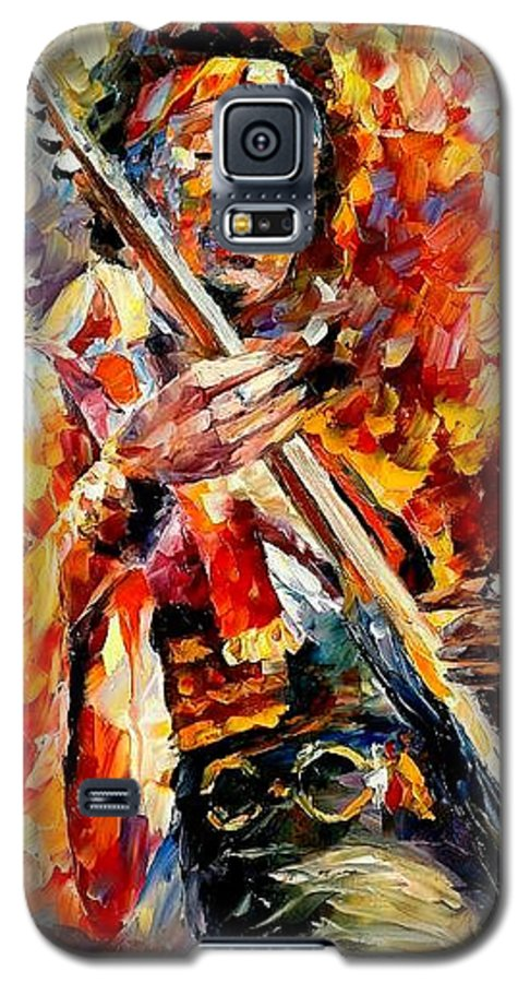 Music Galaxy S5 Case featuring the painting Jimi Hendrix by Leonid Afremov