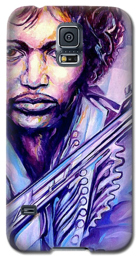 Galaxy S5 Case featuring the painting Jimi by Lloyd DeBerry