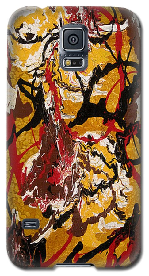 Abstract Art Galaxy S5 Case featuring the painting Joe Sweet by Jill English