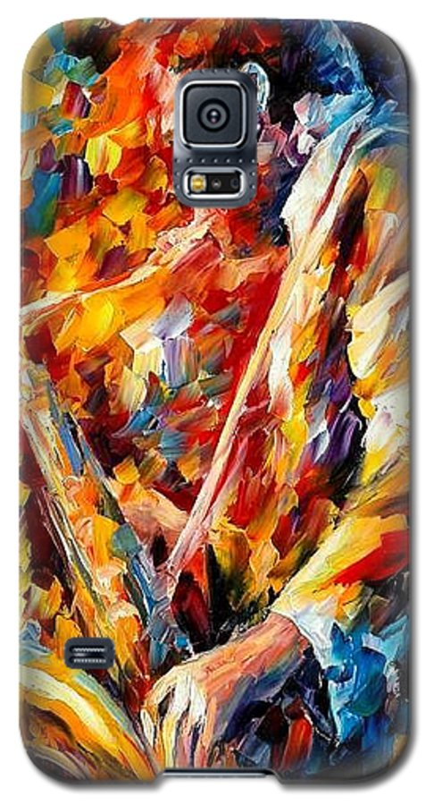 Music Galaxy S5 Case featuring the painting John Coltrane by Leonid Afremov