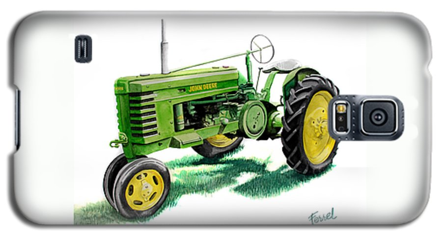John Deere Tractor Galaxy S5 Case featuring the painting John Deere Tractor by Ferrel Cordle