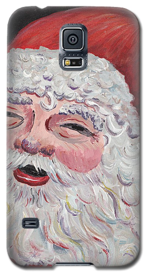 Santa Galaxy S5 Case featuring the painting Jolly Santa by Nadine Rippelmeyer