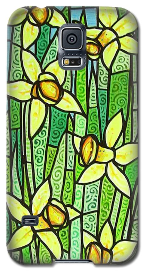 Jonquils Galaxy S5 Case featuring the painting Jonquil Glory by Jim Harris