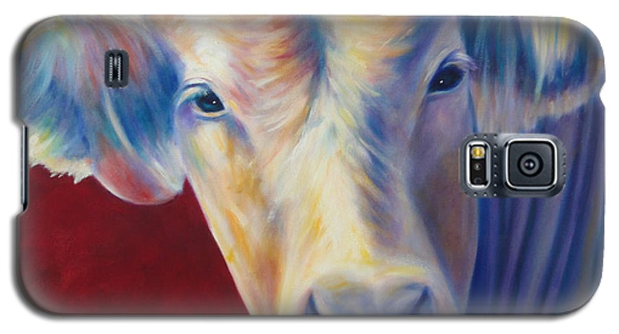 Bull Galaxy S5 Case featuring the painting Jorge by Shannon Grissom