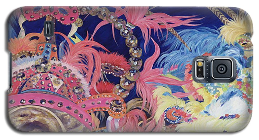 Bahamas Galaxy S5 Case featuring the painting Junkanoo by Danielle Perry