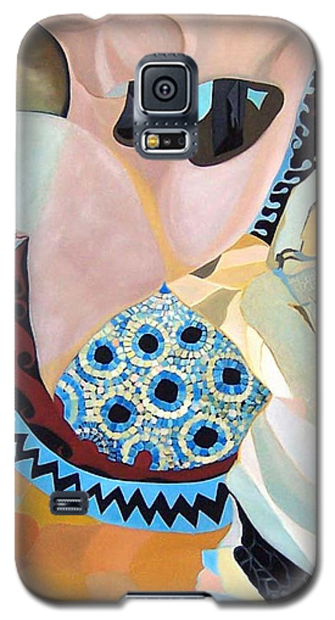Figyrative Galaxy S5 Case featuring the painting Jurney by Antoaneta Melnikova- Hillman