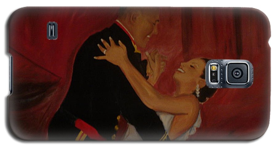 Marine Galaxy S5 Case featuring the painting Just Married by Regina Walsh