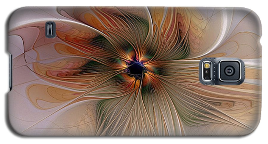 Digital Art Galaxy S5 Case featuring the digital art Just Peachy by Amanda Moore
