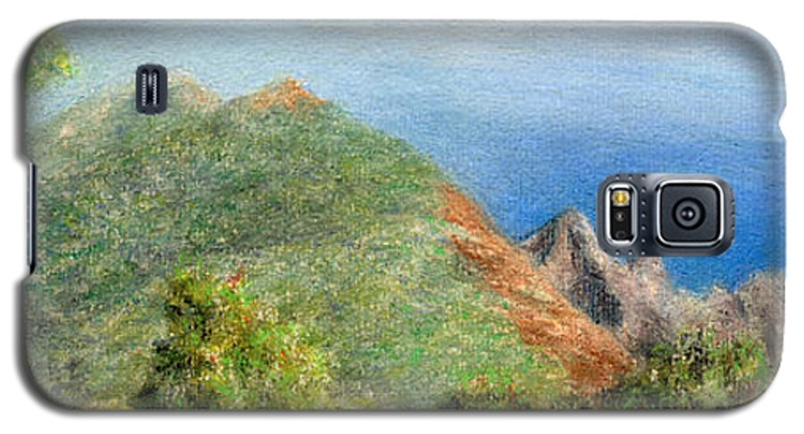 Rainbow Colors Pastel Galaxy S5 Case featuring the painting Kalalau View by Kenneth Grzesik