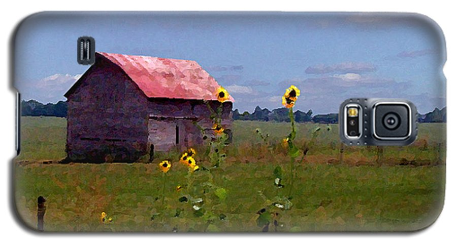 Landscape Galaxy S5 Case featuring the photograph Kansas Landscape by Steve Karol