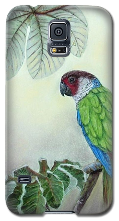 Wildlife Galaxy S5 Case featuring the painting Kasanga Bajo El Guarumo by Ceci Watson