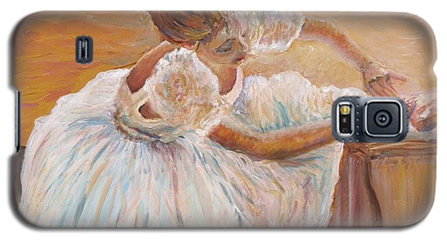 Dancer Galaxy S5 Case featuring the painting Kaylea by Nadine Rippelmeyer