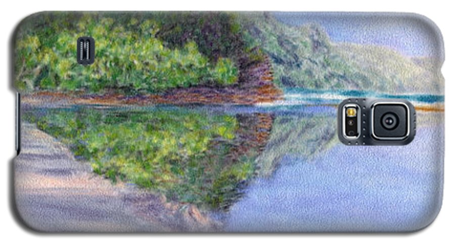 Rainbow Colors Pastel Galaxy S5 Case featuring the painting Ke' E Beach In May by Kenneth Grzesik
