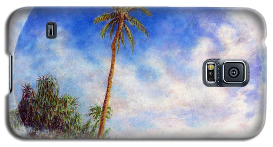 Rainbow Colors Pastel Galaxy S5 Case featuring the painting Ke'e Palm by Kenneth Grzesik