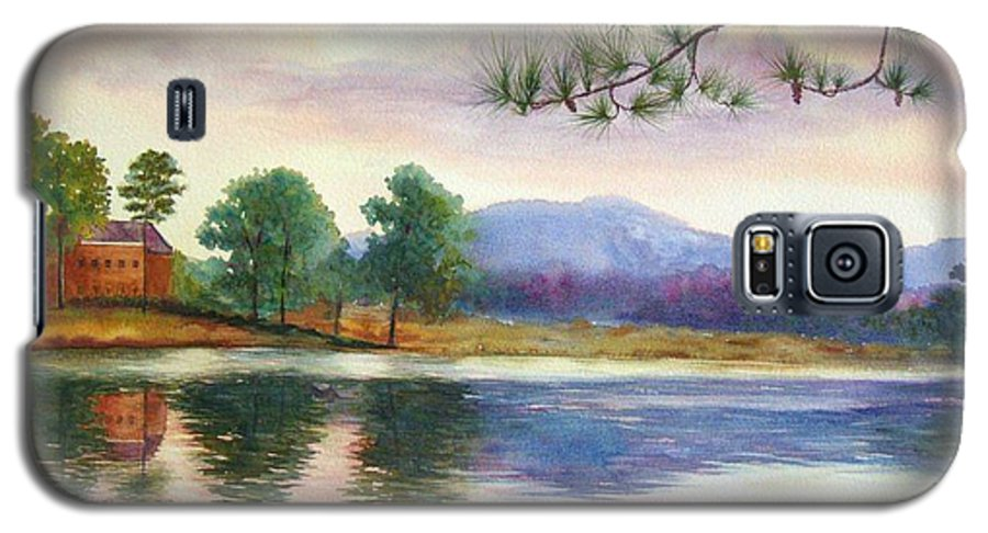Marietta Galaxy S5 Case featuring the painting Kennesaw Mt. by Ann Cockerill