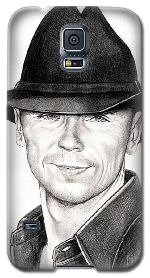 Portrait Galaxy S5 Case featuring the drawing Kenny Chesney by Murphy Elliott