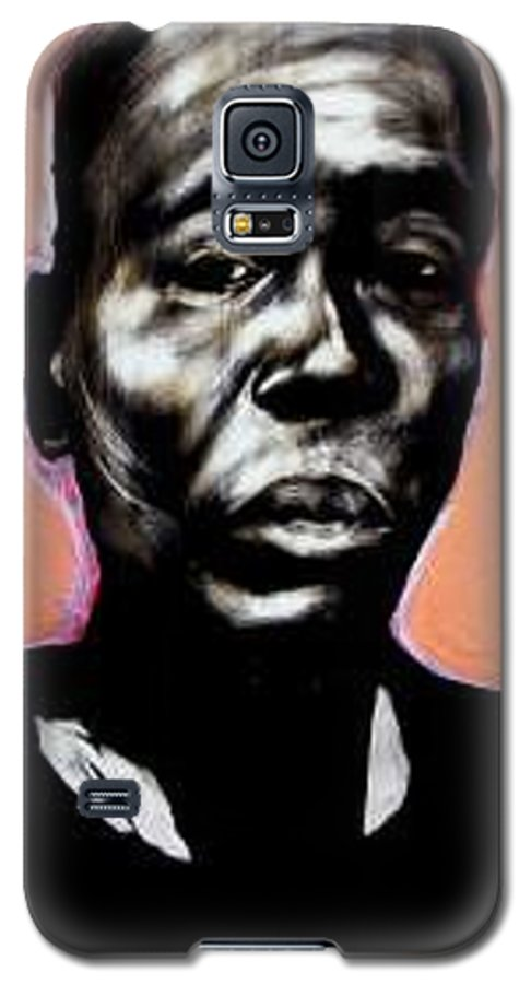 Portrait Galaxy S5 Case featuring the mixed media Kewam by Chester Elmore