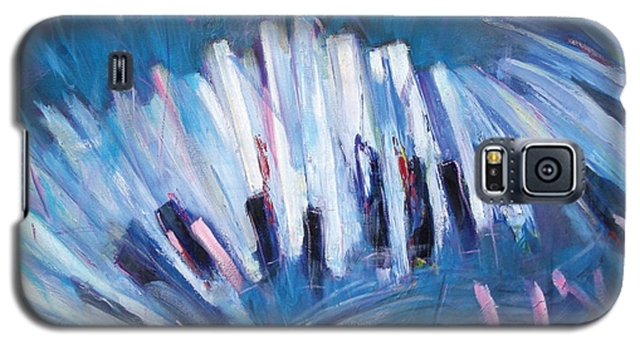 Piano Galaxy S5 Case featuring the painting Keys by Jude Lobe