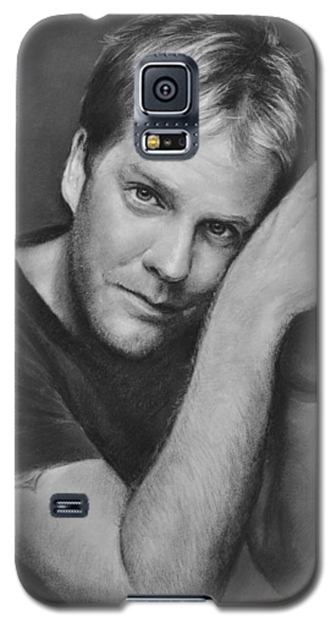 Portraits Galaxy S5 Case featuring the drawing Kiefer Sutherland by Iliyan Bozhanov