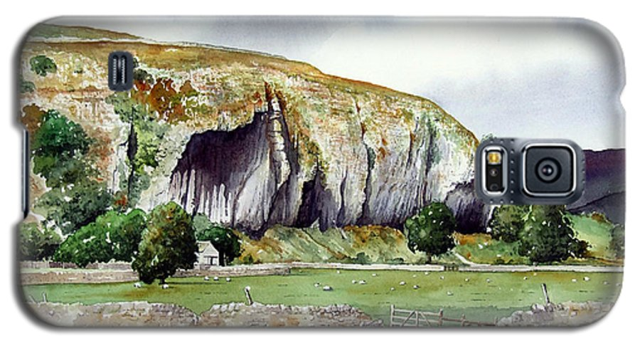 Landscape Galaxy S5 Case featuring the painting Kilnsey Crag by Paul Dene Marlor