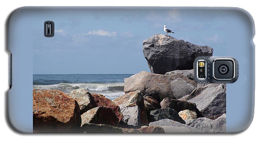 Beach Galaxy S5 Case featuring the photograph King Of The Rocks by Margie Wildblood