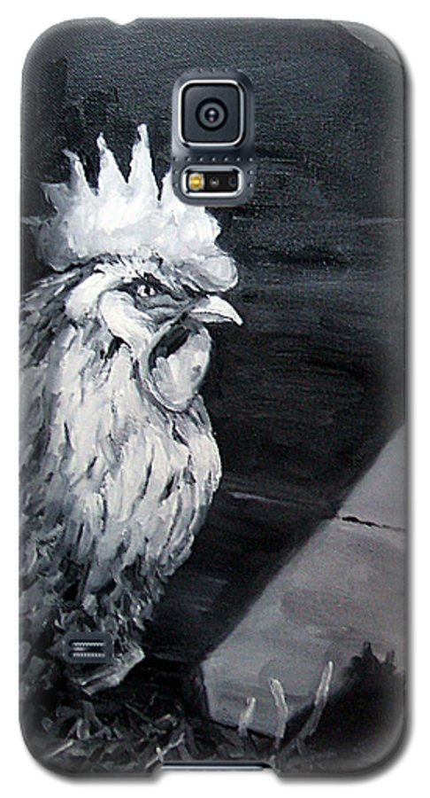 Animal Galaxy S5 Case featuring the painting King Of The Roost by Diane Kraudelt