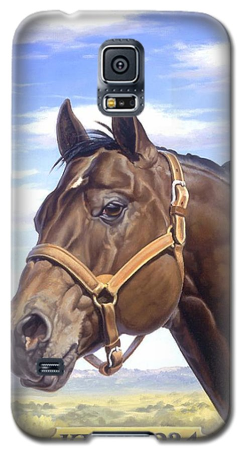 Quarter Horse Galaxy S5 Case featuring the painting King P234 by Howard Dubois