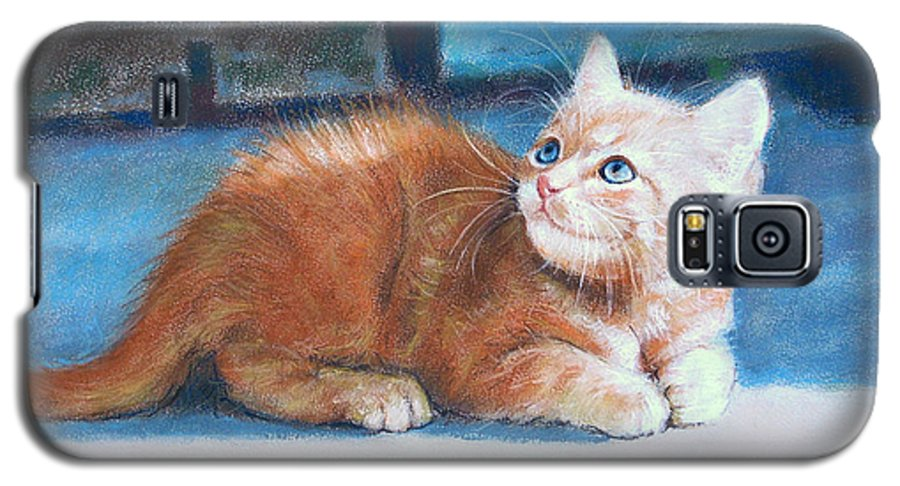Cats Galaxy S5 Case featuring the painting Kitten by Iliyan Bozhanov