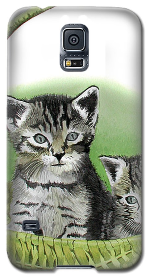 Cat Galaxy S5 Case featuring the painting Kitty Caddy by Ferrel Cordle