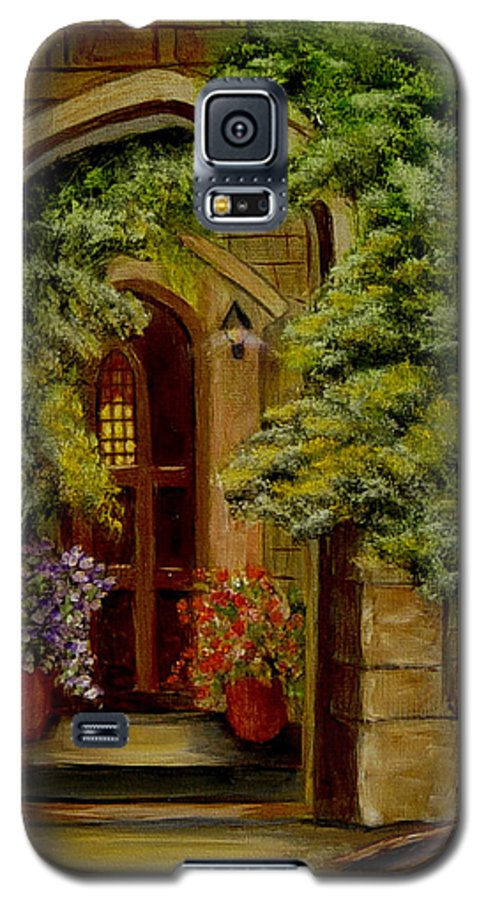 Door Galaxy S5 Case featuring the painting Knight's Door by Quwatha Valentine