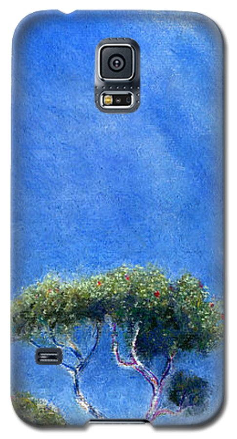 Rainbow Colors Pastel Galaxy S5 Case featuring the painting Kokee Trees by Kenneth Grzesik
