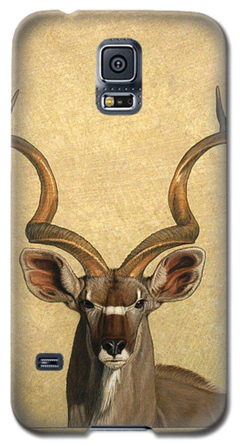 Kudu Galaxy S5 Case featuring the painting Kudu by James W Johnson