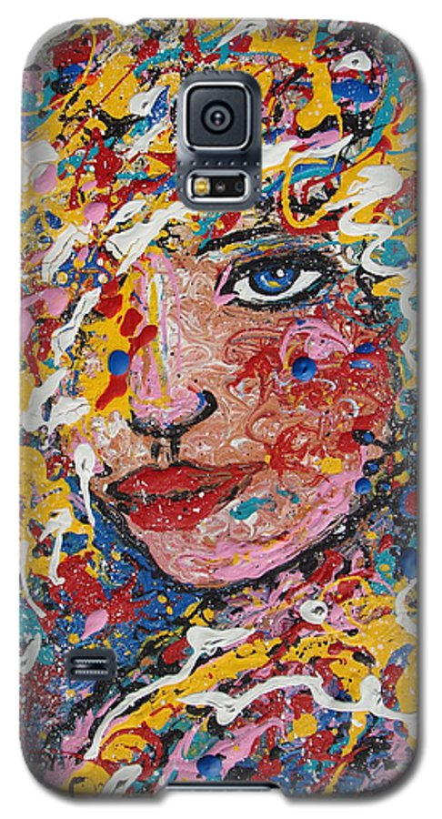 Woman Galaxy S5 Case featuring the painting Kuziana by Natalie Holland