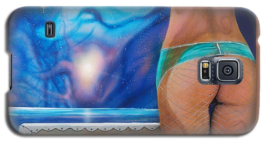 Nebula Caribe Galaxy S5 Case featuring the painting La Bailarina by Angel Ortiz