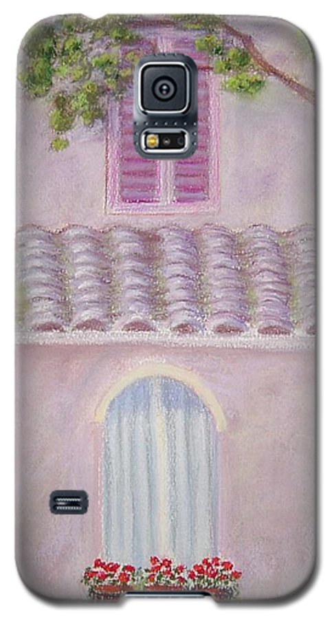 Window Boxes Galaxy S5 Case featuring the painting La Casa Rosa Lunga Il Treve by Mary Erbert