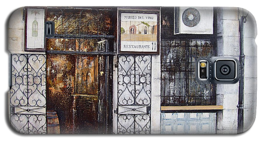 Bodega Galaxy S5 Case featuring the painting La Cigalena Old Restaurant by Tomas Castano