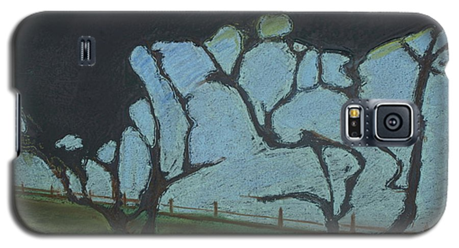 Contemporary Tree Landscape Galaxy S5 Case featuring the mixed media La Jolla IIi by Leah Tomaino